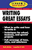 img - for Schaum's Quick Guide to Writing Great Essays by Molly McClain (1998-09-21) book / textbook / text book