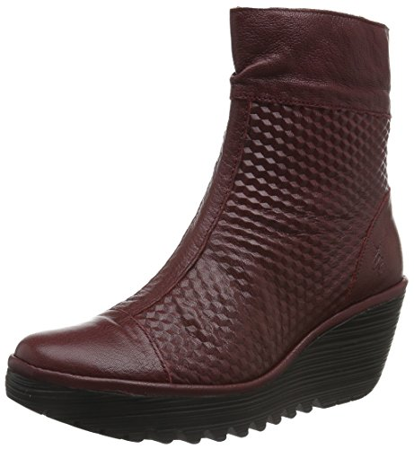 Fly London Yoke670fly, Stivaletti Donna, Rosso (Cordobared 003), 38 EU