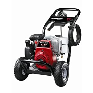 Power Boss 020309 3,000 psi 2.5 Gallon-Per-Minute Honda GC190 Gas-Powered Pressure Washer
