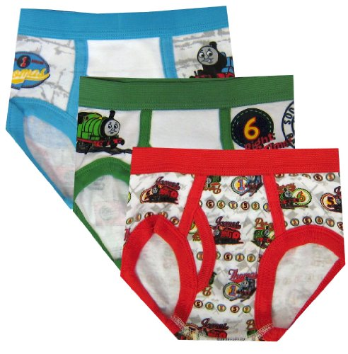 Thomas The Tank Engine And Friends 3 Pack Toddler Boys Briefs For Boys (4T) back-816927