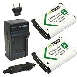 Paquete de 2 baterías Wasabi Power con cargador para Sony NP-BX1, NP-BX1 / M8 y Sony Cyber-shot DSC-HX50V, DSC-HX300, DSC-RX1, DSC-RX1R, DSC-RX100, DSC-RX100.