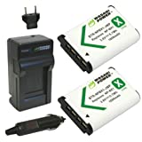 Wasabi Power Battery (2-Pack) and Charger for Sony NP-BX1, NP-BX1/M8 and Sony Cyber-shot DSC-HX50V, DSC-HX300, DSC-RX1, DSC-RX1R, DSC-RX100, DSC-RX100 II, DSC-RX100M II, DSC-RX100 III, DSC-RX100M3, DSC-WX300, HDR-AS10, HDR-AS15, HDR-AS30V, HDR-AS100V, HDR-AS100VR, HDR-CX240, HDR-MV1, HDR-PJ275