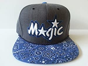 Mitchell and Ness NBA Orlando Magic Custom Snapback Cap: Blue Bandana by Mitchell & Ness