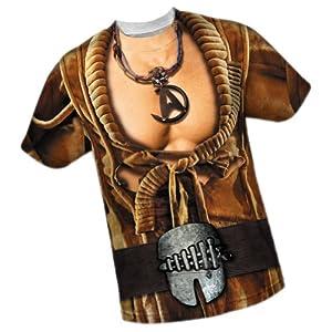 Khan Costume -- Star Trek Front/Back Print Sports Fabric T-Shirt
