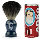 Rusty Bob - Afeitarse hecha de genuina pelo de tejón y jabón de afeitar Arko - blau