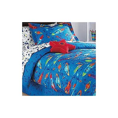 8pc outer space bedding set planets rockets for Outer space bedding