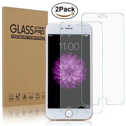 iPhone 6S Screen Protector, H&T(TM) [2-Pack] Ultra Thin 9H Hardness iPhone 6 Crystal Clear 0.3MM 2.5D Tempered Glass Screen Protector Cover [Anti Scratch] Slim for iPhone 6/6S 4.7 Inch. (Cell Phone Screen Covers compare prices)