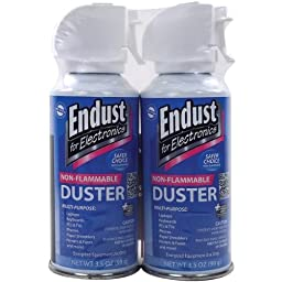 ENDUST 246050 Electronics Duster (3.5oz; Nonflammable; with Bitterant; 2 pk)