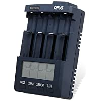 YISI Opus BT-C3100 V2.2 Digital Intelligent 4 Slots LCD Battery Charger