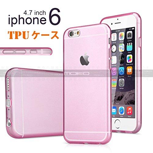 ノーブランド品 iPhone6用ソフトケース TPU保護ケース・カバー 2014年型超薄軽量クリアケース 4.7インチ ピンク