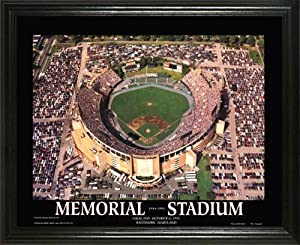 Baltimore Orioles - Memorial Stadium Aerial - Lg - Framed Poster Print by Laminated Visuals