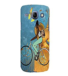 Fuson Cycling Girl Back Case Cover for SAMSUNG GALAXY CORE I8260 - D3793