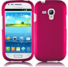 Samsung Galaxy S III S3 mini i8190 Pink Hard Snap On Case Cover Faceplate Protector with Free Gift Reliable Accessory Pen