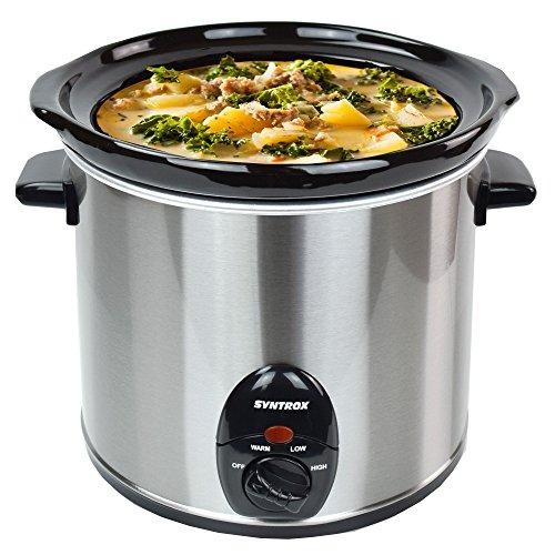 Syntrox-Germany-30-Liter-Edelstahl-Slow-Cooker-mit-Warmhaltefunktion-Sicherheitsglas-und-Entnehmbarer-Keramikschssel-Langsamgarer-Schongarer