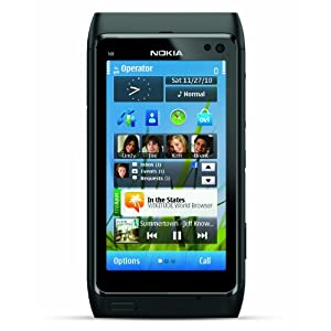 $429 Nokia N8 Unlocked GSM Touchscreen Phone with GPS Navigation, Voice Navigation, and 12 MP Camera–U.S. Version with Warranty (Gray)