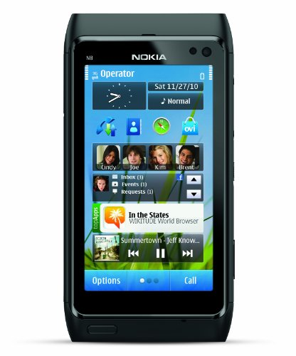 Nokia N8 Unlocked GSM Touchscreen Phone Featuring