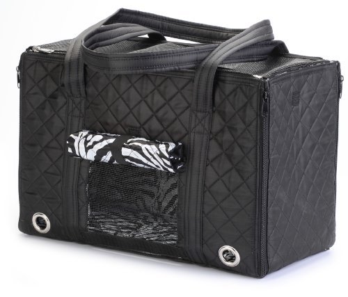 Sherpa Park Tote Pet Carrier, Small Black