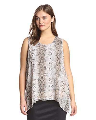 Gender Bias Plus Women's Python Print Layered Tank