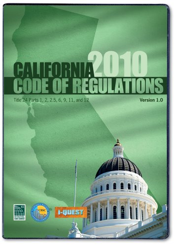 2010 California Codes, Title 24 CD-ROM Single User - ICC (distributed by Cengage Learning) - 5500CD10 - ISBN: 1580019803 - ISBN-13: 9781580019804