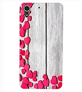 ColourCraft Beautiful Hearts Pattern Design Back Case Cover for HTC DESIRE 626S