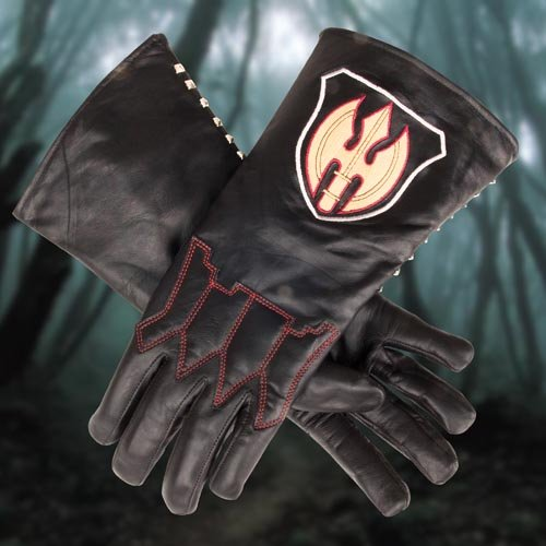 Sleepy Hollow Hessian Headless Horseman Black Leather Gloves- XLarge - Officially Licensed