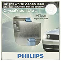 2-Pack Philips H1 CrystalVision ultra Upgrade Headlight Bulb