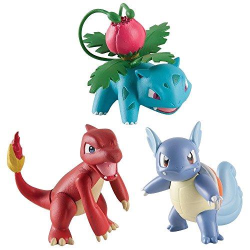 Pokemon - Pack de 3 figuras - Wartortle, Charmeleon, Ivisaur  (Bizak 30698524)