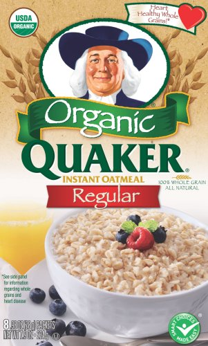 Quaker Instant Oatmeal Organic Regular 8-Count 
