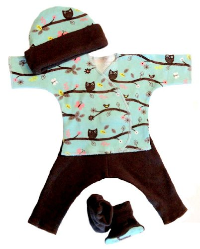 Charming Owl Baby Clothing Set (Small Preemie
