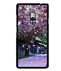printtech Floral Tree China Back Case Cover for One Plus Two::One Plus 2::One+2
