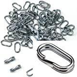 95 Oval X2 Power Rings 50% Stronger Than Round Split Rings Zinc Plated Connectors for Key Rings, Lures Fishing Tackle (6x12mm 0.236x0.472 in)