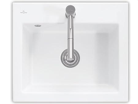 Villeroy Boch Subway 60 S Edelweiss &Sink Fitting White Ceramic Sink