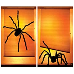 "Shady Spiders Translucent Window Decorations ""Double Window Design"""
