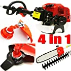 7ft Long Reach 4 in 1 Gas Chainsaw Trimmer Pole Saw Grass Tree Weed Cutter