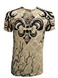 Konflic Men's Rooted Spade Angel Wing Graphic Designer MMA T Shirt