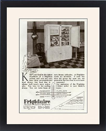 Framed Print Of Advert For Frigidaire Electrical Fridge