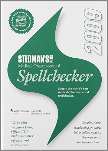 Stedman'S Plus Medical/Pharmaceutical Spellchecker