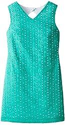 kc parker Big Girls' Sleeveless Cotton Eyelet Dress