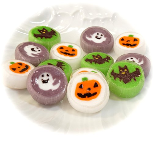 【ハロウィン2016】かぼちゃ・ゴースト・こうもりの3種の細工飴 ハロウィンキャンディ 100個入り