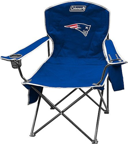 New England Patriots XL Cooler Quad Chair - Licensed NFL Football Gift (Patriots Coleman Cooler compare prices)