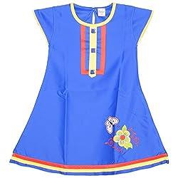 Rush Me Baby Girls' Dress (S.R.1016_4 Years, 4 Years, Royal Blue)