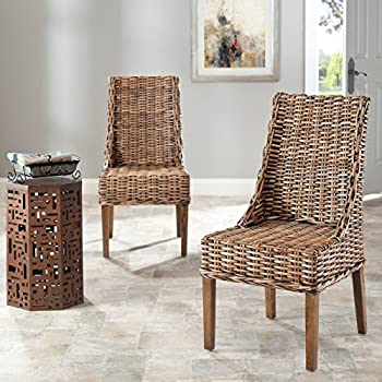 Safavieh Home Collection Suncoast Brown Dining Chair (Set of 2)