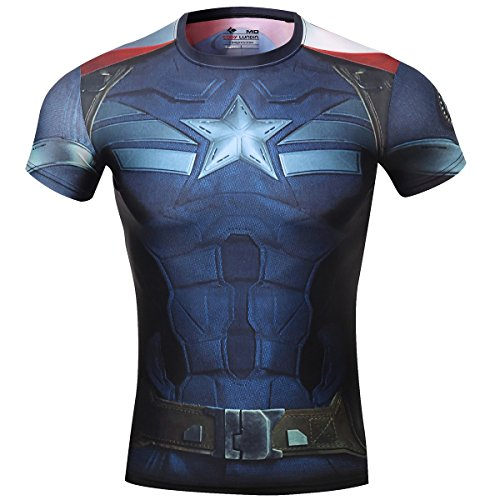 cody-lundinr-maschile-sonic-compressione-shirts-avengers-capitan-america-t-shirt-fitness-in-esecuzio