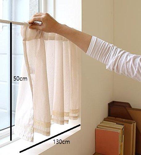 Handmade Natural Cotton Cafe Curtain, Kitchen Curtain