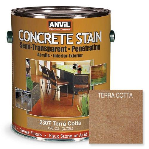 Anvil Semi-Transparent Concrete Stain Penetrating Acrylic Interior-Exterior Color Terra Cotta - 1 Gallon