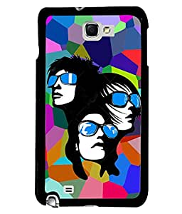 Fuson Multicolor Pattern Girls Back Case Cover for SAMSUNG GALAXY NOTE 1 - D3757