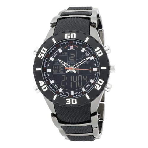 U.S. Polo Assn. Men's US8163 Analog-Digital Black