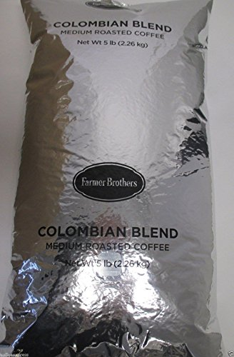 Farmer Brothers Colombian Blend Medium Roast Whole Bean Coffee (1 bag/5 lbs) (Farmer Brothers Coffee Makers compare prices)