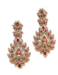 ZevarWale Diamond Earrings With Pink Stones For Women