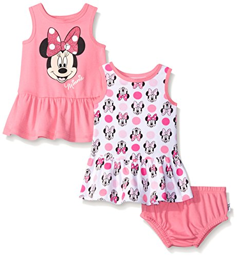 Disney Baby Minnie Mouse 2 Pack Sundress Set, Multiple, 12-18 Months